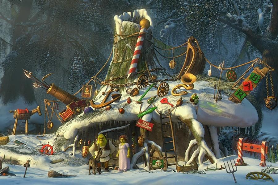 pada shrek - Najlepsze filmy o świętach Bożego Narodzenia