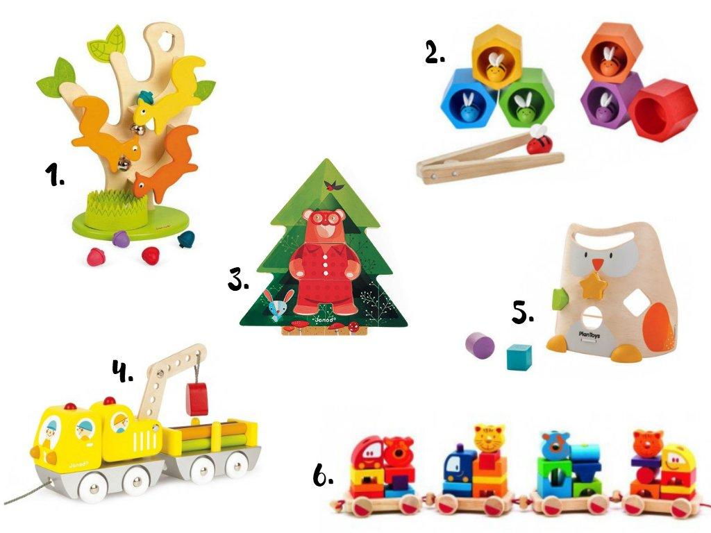 prezent na mikołaja: zabawki drewniane