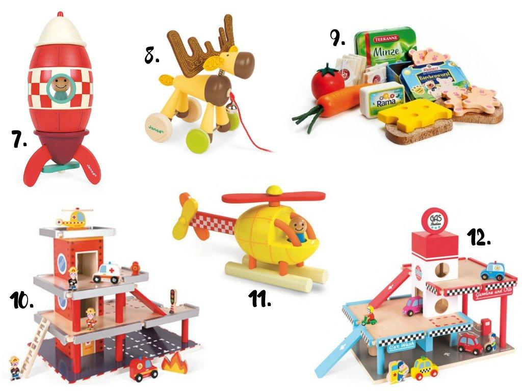 prezenty na mikołaja: zabawki drewniane