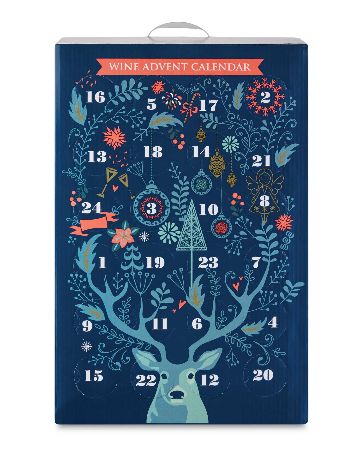 kalendarz adwentowy z winem