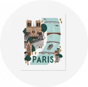 paryż grafika