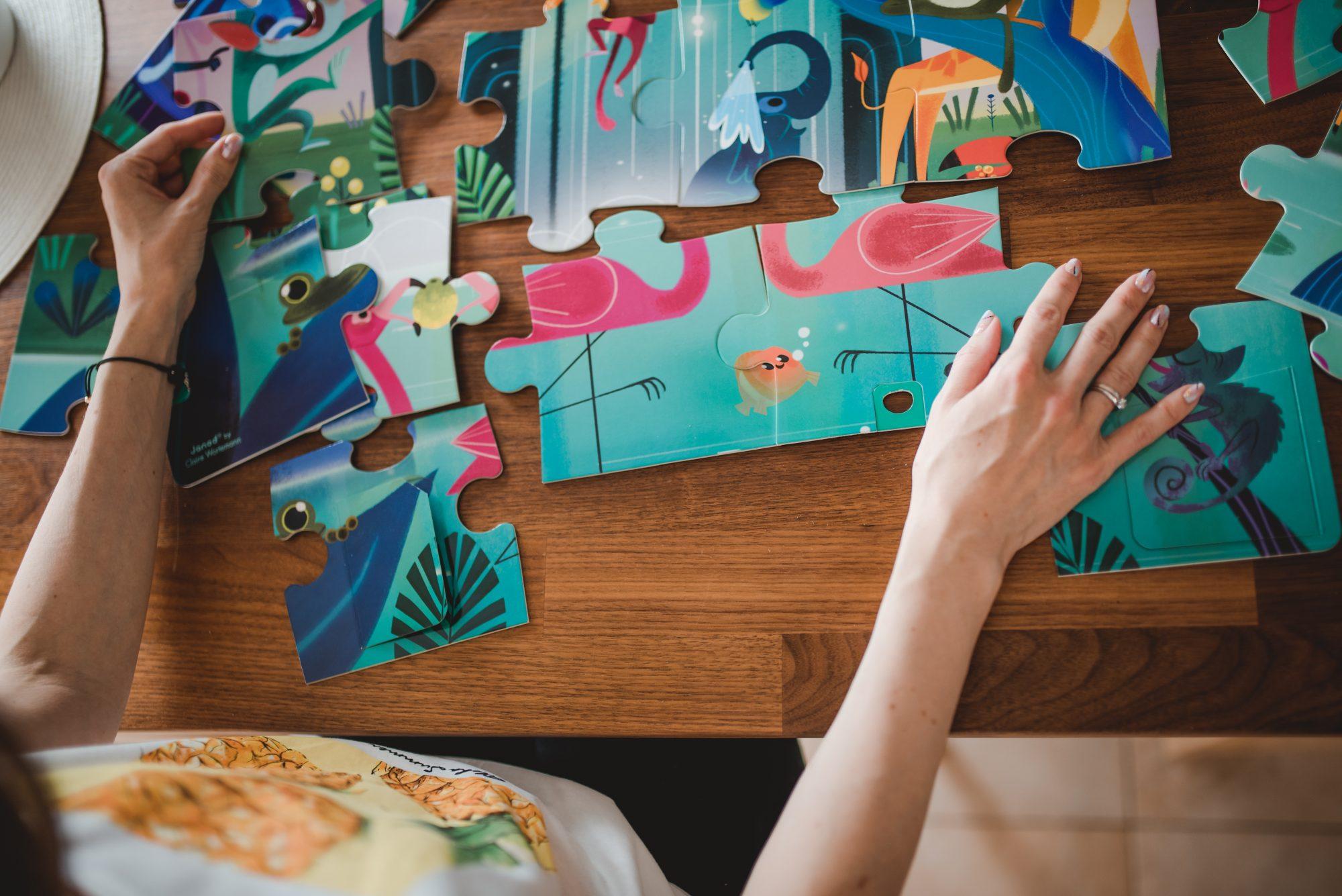 puzzle dla dzieci janod